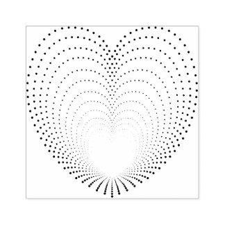 De gestippelde Echo's van het Hart Rubberenstempel