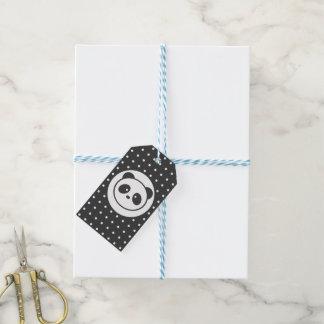 De gestippelde Labels van de Gift van de panda Cadeaulabel