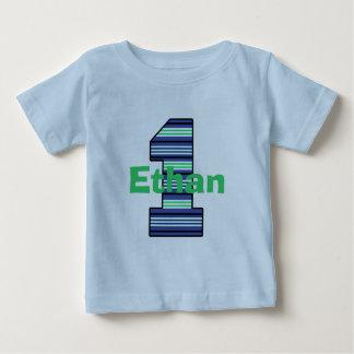 De gestreepte Eerste T-shirt van het Feestvarken