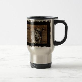 De gestreepte Mok van de Koffie van de Reis