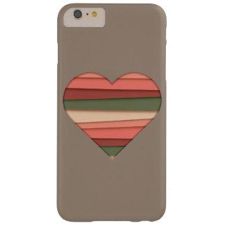 De Gestreepte Valentijnsdag van de Liefde van het Barely There iPhone 6 Plus Hoesje