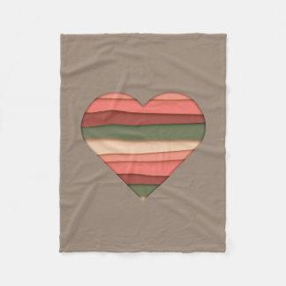 De Gestreepte Valentijnsdag van de Liefde van het Fleece Deken