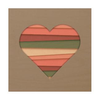De Gestreepte Valentijnsdag van de Liefde van het Hout Print
