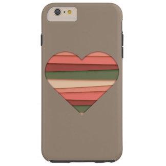 De Gestreepte Valentijnsdag van de Liefde van het Tough iPhone 6 Plus Hoesje