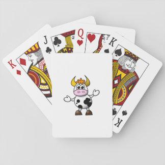 De getrokken Stier van de Koe van de Cartoon Pokerkaarten
