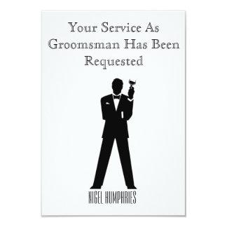 De getuige of Groomsman nodigt uit 8,9x12,7 Uitnodiging Kaart