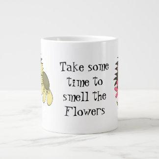 De Geur van de egel de Jumbomok van Bloemen Grote Koffiekop
