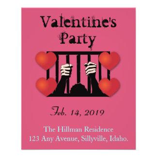 De Gevangene van de Partij van de Valentijnsdag Flyer