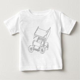 De gevleugelde Hellingen van de Sprint/wit Baby T Shirts