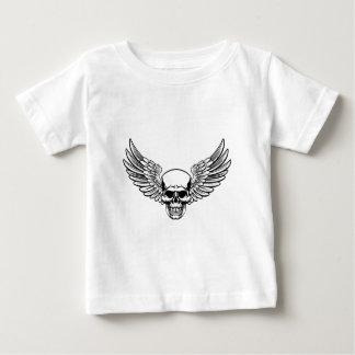 De gevleugelde Stijl van de Houtdruk van de Baby T Shirts