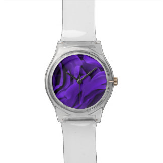 De gevoelige heldere paarse foto van de rozenbloem horloge