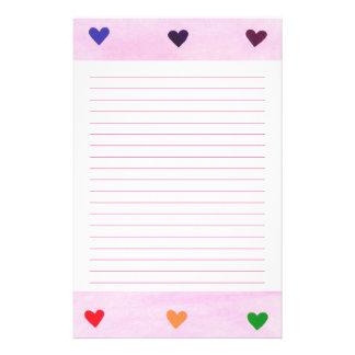 De Gevoerde Kantoorbehoeften van de regenboog Briefpapier