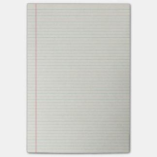 De gevoerde Nota's van de Post-it van het Document Post-it® Notes