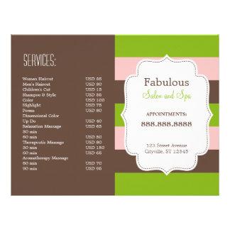 De Gevouwen Brochure van het snoep Strepen Flyer 21,6 X 27,9 Cm