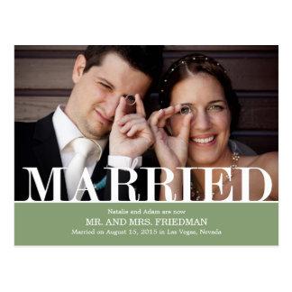 De gewaagde Aankondiging van het Huwelijk van Briefkaart