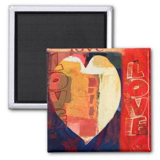 De gewaagde Kleurrijke Abstracte Valentijnskaarten Magneet