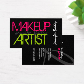 De gewaagde Kunstenaar van de Make-up Visitekaartjes