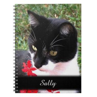 De geweldige Kat van de Smoking in Persoonlijke Ringband Notitieboek