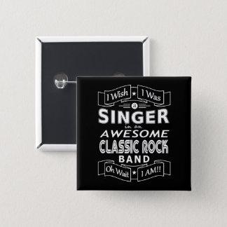 De geweldige klassieke popgroep van de ZANGER Vierkante Button 5,1 Cm