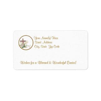 De geweldige Lelies van Pasen &Wooden het Etiket
