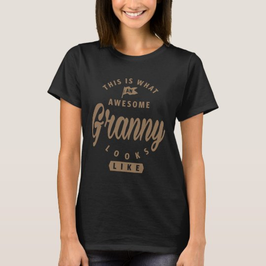 De geweldige Oma kijkt als T Shirt
