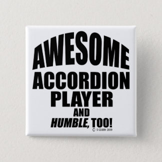De geweldige Speler van de Harmonika Vierkante Button 5,1 Cm