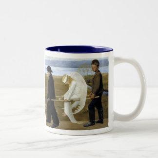 De gewonde Engel Tweekleurige Koffiemok