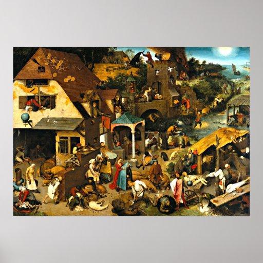 De Gezegden van Netherlandish, het schilderen van  Plaat