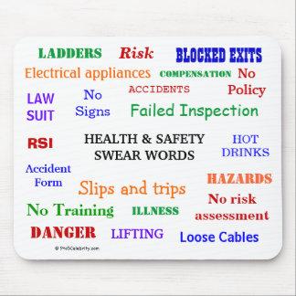De gezondheid en de Veiligheid zweren Woorden & Ru Muismat