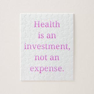 De gezondheid is een investering… legpuzzel