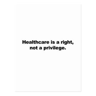 De gezondheidszorg is een recht, niet een briefkaart
