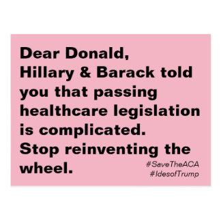 De Gezondheidszorg van de troef is Ingewikkelde Briefkaart