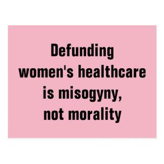 De Gezondheidszorg van de Vrouwen van Defunding is Briefkaart