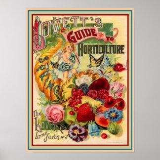 De Gids 12x16 van de Tuinbouw van 1895 van Lovett Poster