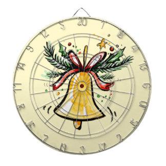 De Gift Geel Jingle Bell van het Nieuwjaar van Dartbord