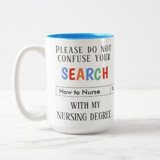 De Gift van de douane voor Verpleegsters Tweekleurige Koffiemok