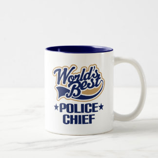 De Gift van de hoofdcommissaris Tweekleurige Koffiemok