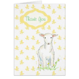 De Gift van het Baby shower van het lam dankt u Briefkaarten 0