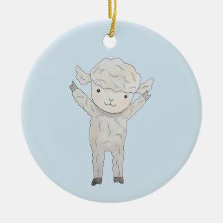 De Gift van het Baby van de Douane van het Rond Keramisch Ornament