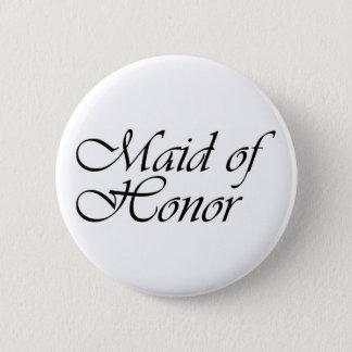 De gift van het eerste bruidsmeisje ronde button 5,7 cm