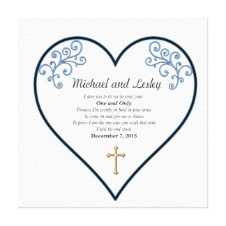De Gift van het Huwelijk Michael en Lesley Canvas Print