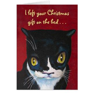 De Gift van Kerstmis van de kat Kaart