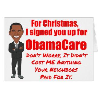 De Gift van Kerstmis van ObamaCare Kaart