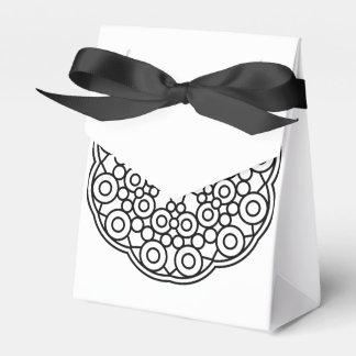 De giftdoos van het huwelijk: zwart wit bedank doosje