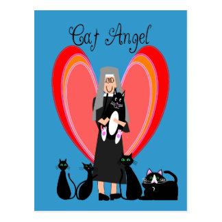 De Giften van de Kunst van de Engel van de Kat van Briefkaart