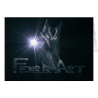 De Giften van de Kunst van Fenrir Wenskaart