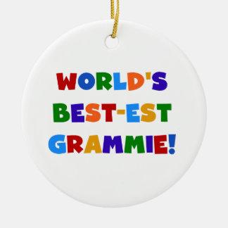 De Giften van Grammie van het best-est-Beste van Rond Keramisch Ornament