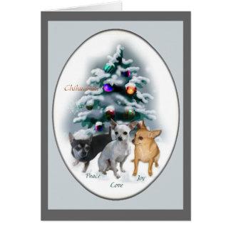 De Giften van Kerstmis van Chihuahua Briefkaarten 0