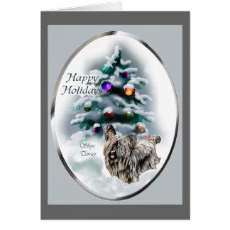 De Giften van Kerstmis van Terrier van Skye Kaart