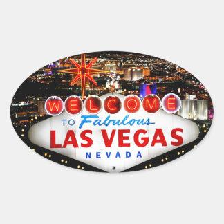 De Giften van Las Vegas Ovaalvormige Stickers